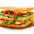 Sandwich isolated on white — Stock Photo #6795188