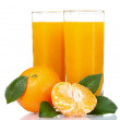 Glass of fresh tangerine juice — Stock Photo #6795584