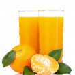 Glass of fresh tangerine juice — Stock Photo