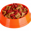 Dog food in bowl — Stock Photo