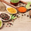 Spices in the spoons — Stock Photo #6796561