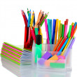 Bright stationery - Stock Photo
