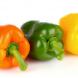 Three bell peppers isolated on white — Stock Photo #6797174