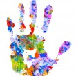 Color hand print — Stock Photo #6797200
