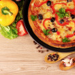 välsmakande pizza — Stockfoto #6797727
