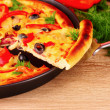 leckere pizza — Stockfoto