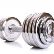Dumbbell isolated on white — Stock Photo