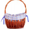 Empty Wicker basket isolated on white - Foto Stock