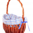 Empty Wicker basket isolated on white — Stock Photo #6798698