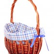 Empty Wicker basket isolated on white - Lizenzfreies Foto