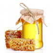 Stock Photo: Beautiful combs and honey