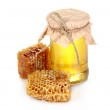 Beautiful combs and honey — Stock Photo