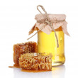 Beautiful combs and honey - Foto Stock