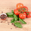Fresh tomato and spices — Stock Photo