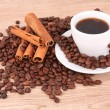 Coffee  with cinnamon — 图库照片
