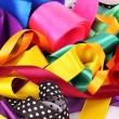 Many beautiful bright satin ribbons — Stock Photo #6799967