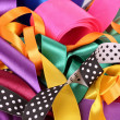 Many beautiful bright satin ribbons — Stock Photo #6799972