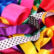Many beautiful bright satin ribbons — Stock Photo #6799978
