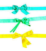 Color ribbons and bow isolated on white background — Stock Photo