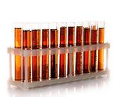 Test-tubes isolated on white — Stock Photo