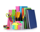 Bright stationery and books — ストック写真