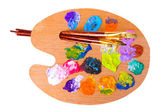 Palette of colors — Stock Photo