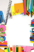 Different colorful stationery — Stockfoto