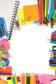 Olika färgglada brevpapper — Stockfoto
