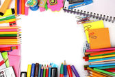 Different colorful stationery — Foto Stock