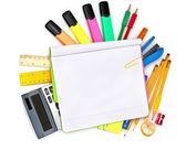 Different colorful stationery — Stock Photo