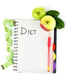Planning of a diet — Stok fotoğraf