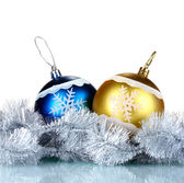 Beautiful Christmas balls, cones — Stock Photo