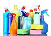Detergent bottles — Stock Photo