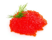 Red caviar isolated on white — Stock Photo