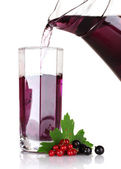 Black currant and juice — Stock Photo