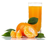 Glass of fresh tangerine juice — Stockfoto