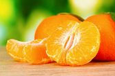 Juicy ripe tangerines with cloves — 图库照片