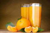 Glass of healthy fresh juice of mandarins — Stock Photo