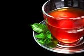 Nice cup of tea and mint — Stock Photo