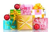 Güzel parlak hediyeler — Stok fotoğraf