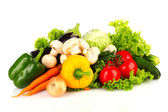 A set of fresh vegetables isolated on white — Stock Photo