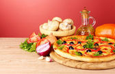 Tasty pizza — Stockfoto