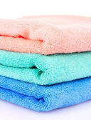Towels isolated on white — Zdjęcie stockowe