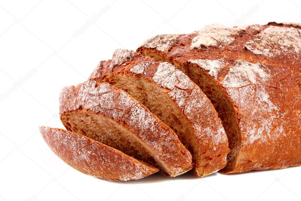 Bread isolated on white  Stock Photo #6790214