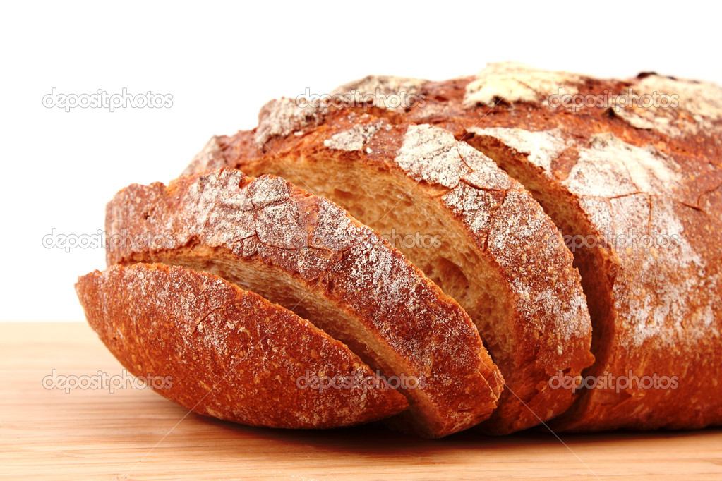 Bread on wooden surface — Stock Photo #6790237