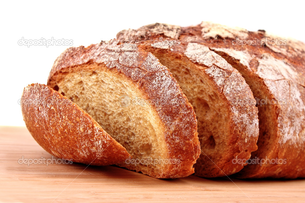 Bread on wooden surface — Stock Photo #6790247