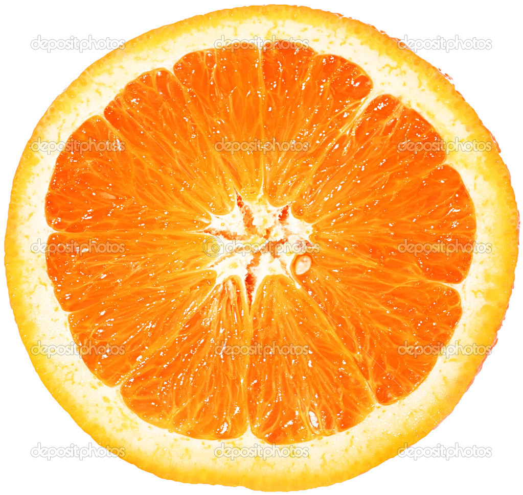 Orange closeup isolated on a white background  Stock Photo #6790406