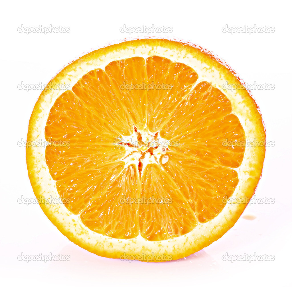 Orange closeup isolated on a white background  Stock Photo #6790408
