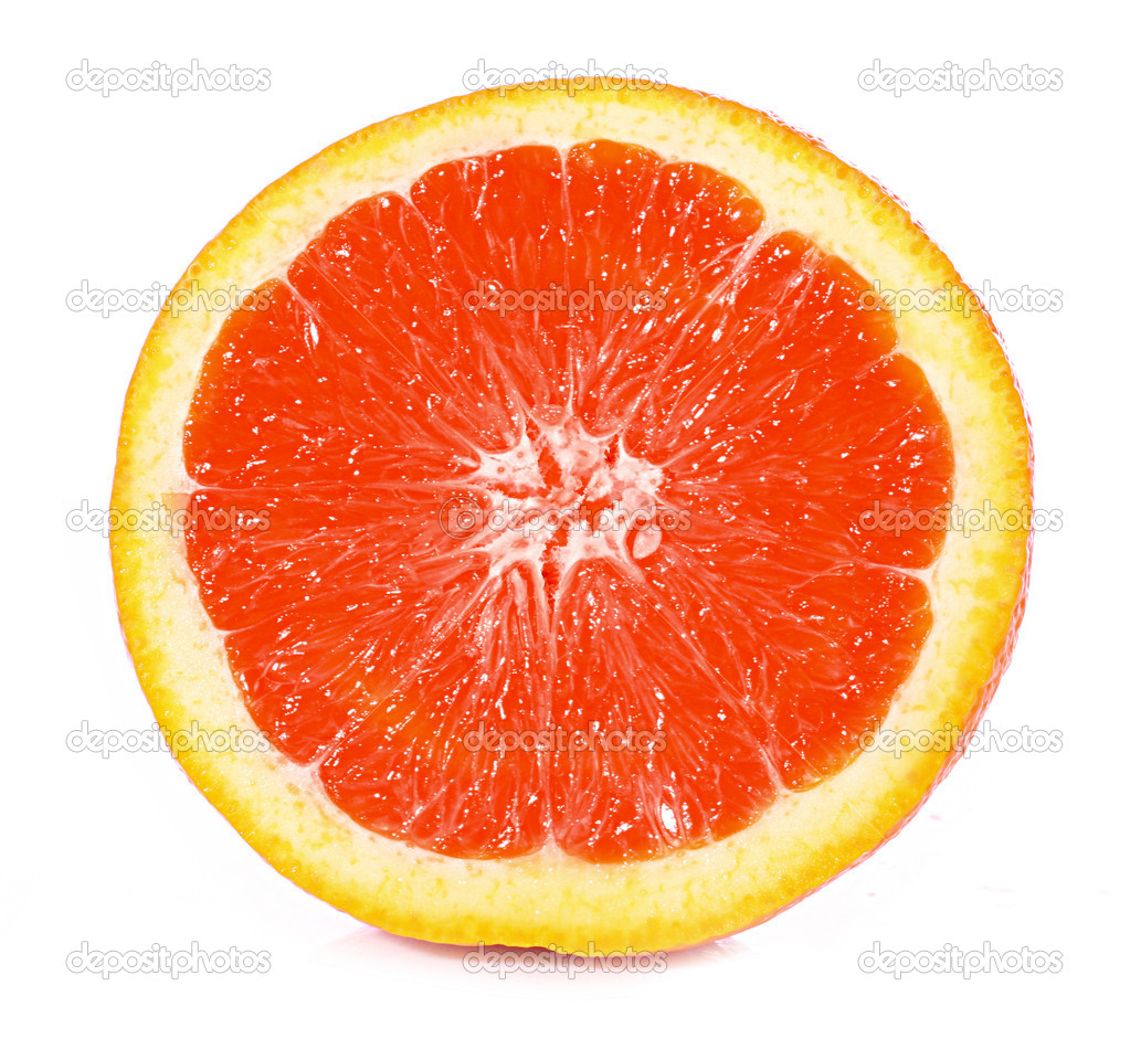 Orange closeup isolated on a white background — Stock Photo #6790431