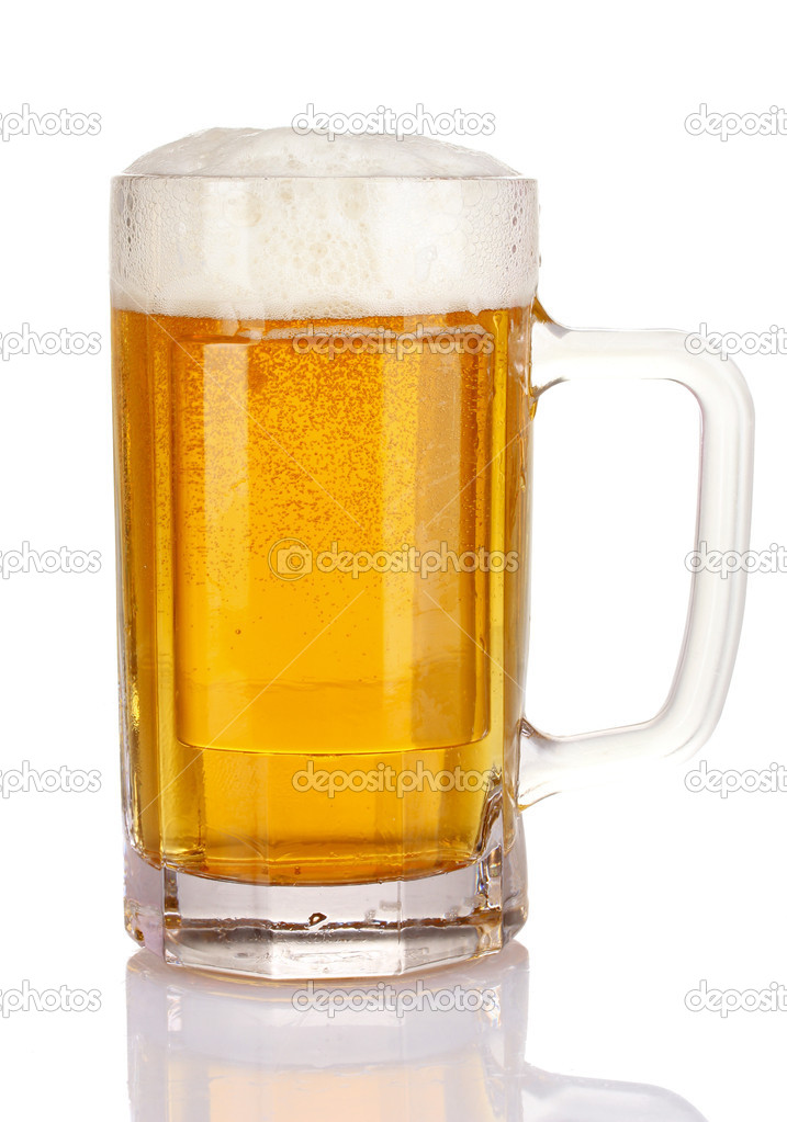Mug of beer isolated on white — Stock Photo #6793440